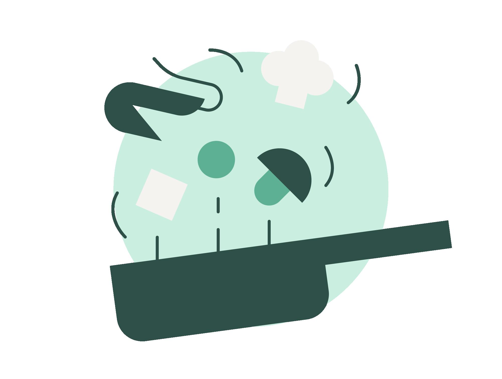 sauté pan kitchen icon